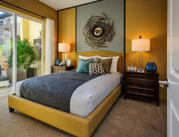 luxury apartment in Foster City with designer carpeting