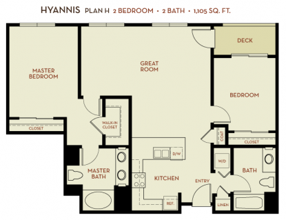 The Plaza Foster City: Hyannis Floor Plan